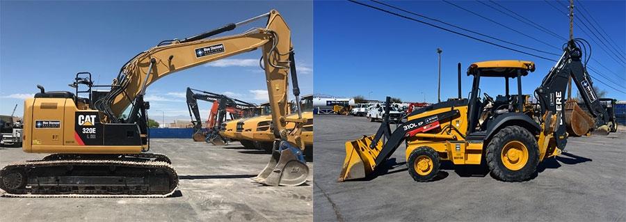excavator versus backhoe