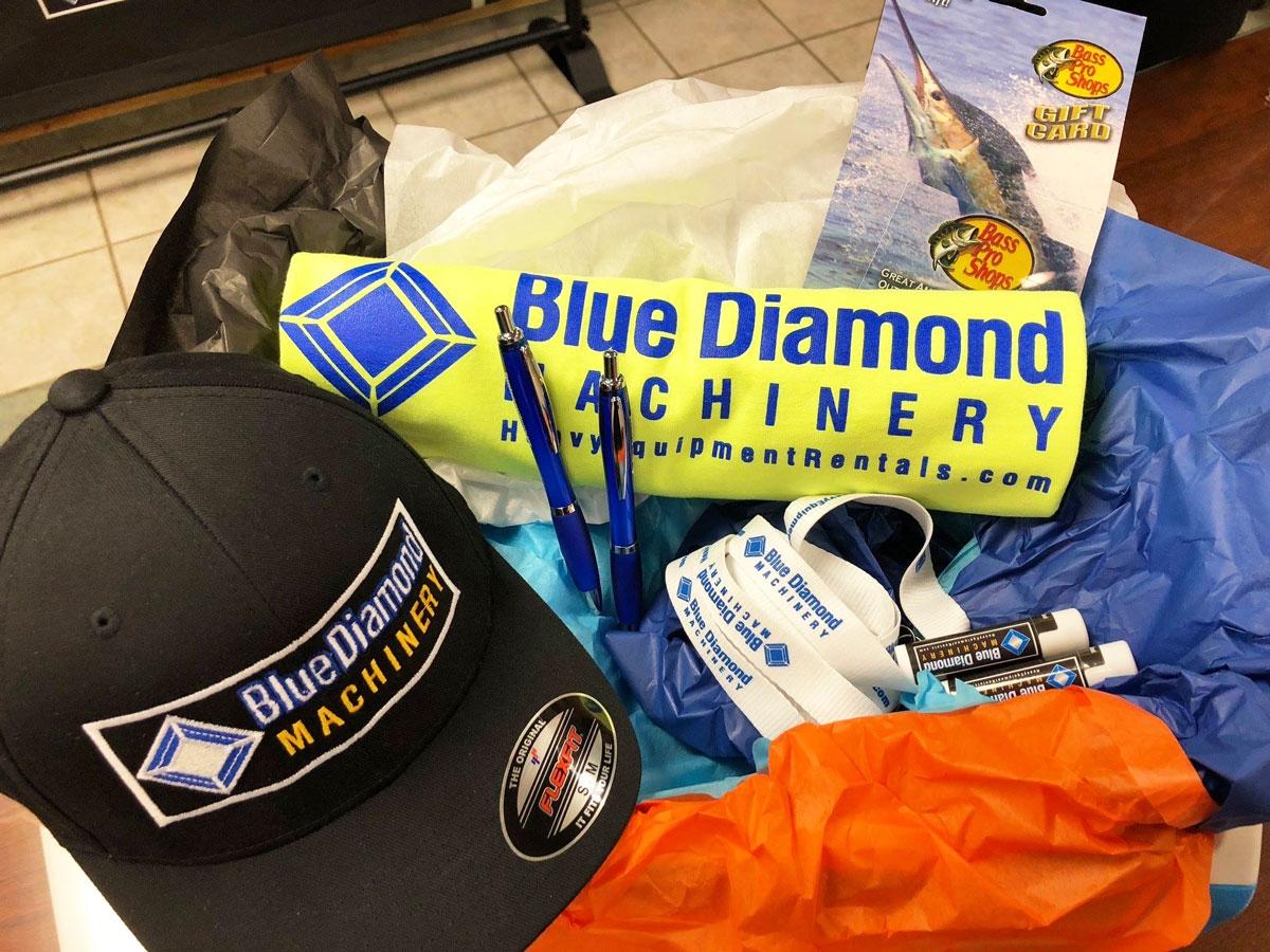 Blue Diamond Machinery Customer Giveaways