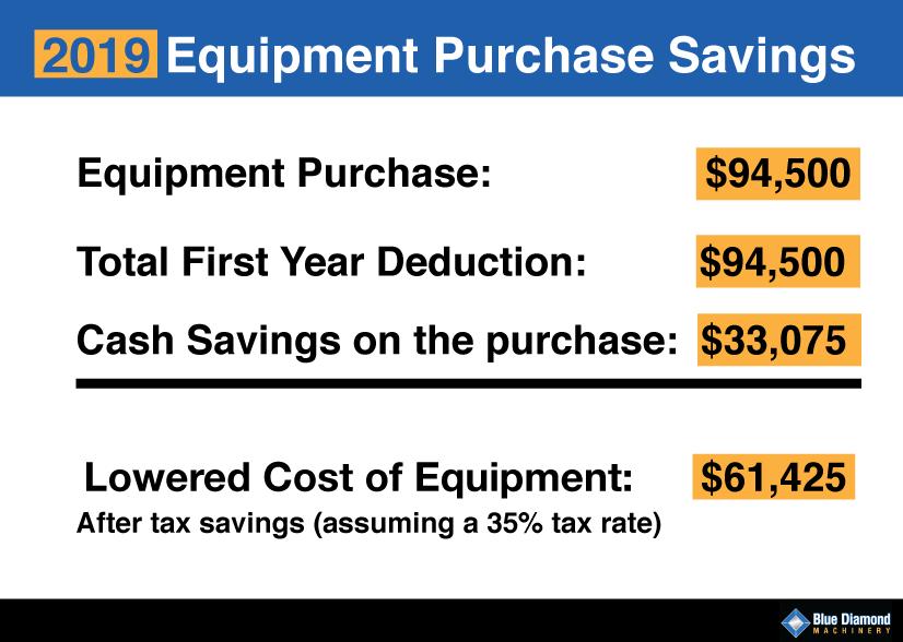 2019 tax savings heavy equipment