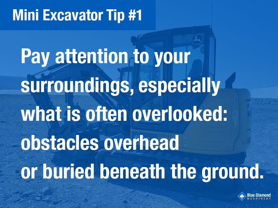 12 Tips For Operating A Mini Excavator News Blue Diamond Machinery