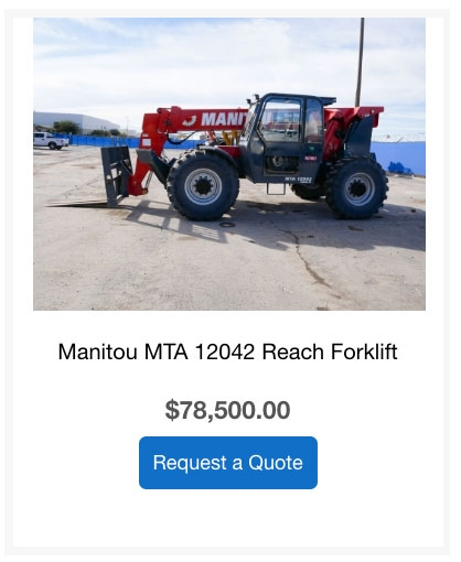 manitou reach forklift for sale